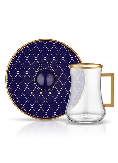 Dervish Kulplu Çay St 6'lı Kapıtone Kobalt-Koleksiyon